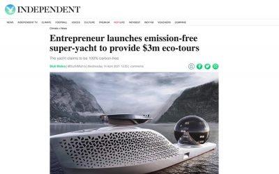 Entrepreneur launches emission-free super-yacht to provide $3m eco-tours