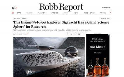 This Insane 984-Foot Explorer Gigayacht Has a Giant 'Science Sphere' for Research
